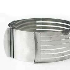 1pc Adjustable Round Stainless Cake Ring Mold Layer Slicer Cutter UK STOCK Steel