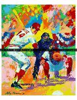 "LeRoy Neiman Pete Rose Large Signed Reprint 13""x17"" FREE 8""x10"""