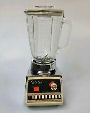 Vintage Osterizer Blender Dual Range 16 Speed Pulse Matic Almond & Chrome