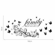 Wall Stickers for Art Decoration - Text and Butterflies