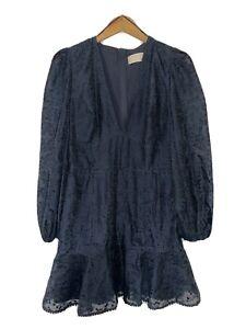 Keepsake The Label NAVY Long Sleeve Dress SIZE 12