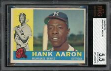 1960 Topps - #300 Hank Aaron - Milwaukee Braves - BVG 5.5 Excellent+ great card