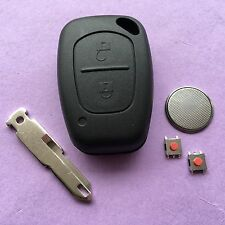 Vauxhall Opel Vivaro Movano Trafic 2 Button Remote Key Fob Case Repair Kit blade