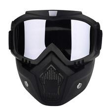Modular Motorcycle Motocross Face Mask Goggles ATV MTB Off Road Eyewear Glasses
