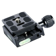 QR-60 Camera Clamp Quick Release Plate Mount Holder For Tripod Adapter New