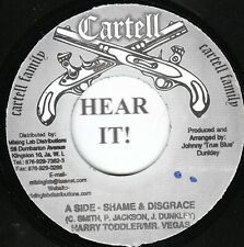 Harry Toddler/Mr. Vegas/Leego WEIRD REGGAE HIP HOP 45 (Cartell) Shame & Disgrace
