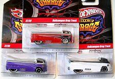 2010 Hot Wheels PHIL'S GARAGE #37 * VOLKSWAGEN DRAG TRUCK * LOT OF 3 WHT RED PRP