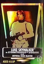 Luke - Stormtrooper Unopened Star Wars POTF2 1997 Hologram Green Col.1 Free Ship