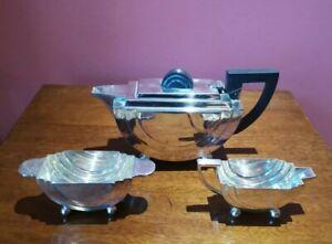Art Deco, silver plated  Walker & Hall Tea Set.