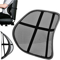 Black Mesh Lumbar Back Brace Support Cushion for Office Home Car Seat Chair sale