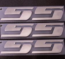 3x OEM Chrome SS Emblems Sticker 3D F Silverado Chevrolet GMC series Big