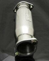 """M2 MITSUBISHI EVO 4 5 6 304 STAINLESS STEEL 3"""" EXHAUST SILENCED DECAT Y2127"""