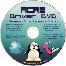 A red ACRS Driver DVD 4 dell and hp Laptop/Desktop with Windows 8 7 Vista XP