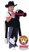 *NEW* Kids Safari Wrap 'n' Ride Plush White & Black Liquorice Horse Costume
