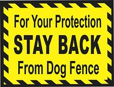 BEWARE OF DOG-STAY BACK -warning sign, dog kennel, beware of dog, pet supply zoo