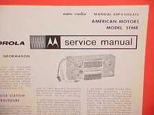 1965 RAMBLER AMBASSADOR CLASSIC AMERICAN MOTOROLA AM RADIO SERVICE SHOP MANUAL