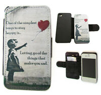 BANKSY ARTE in pelle di design scheda Portafoglio Flip custodia per telefono