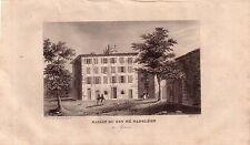 Corsica Corse France maison ou est né Napoléon ACCIAIO CHIAVE gravure de fer 1850