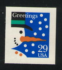US. 2803. 29c. Snowman. Christmas Issue. Mint. NH. 1993