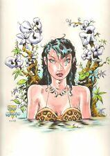 Beautiful Cave Woman Color LA 2008 Signed art by Steve Mannion & Dave Gutierrez