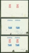 Haiti 1958 Brussels World's Fair SS PROOF PAIRS (x3)