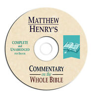 Matthew Henry's Commentary Whole Bible-on CD eBook PDF-Christian Scripture Study