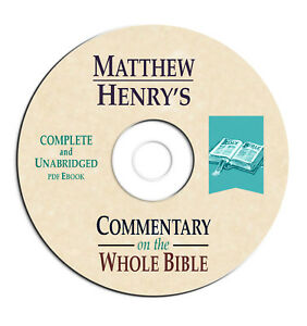Matthew Henry's Commentary Whole Bible-Christian Scripture Study Book on CD NEW