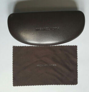 MICHAEL KORS SMALL BROWN OPTICAL FRAME CASE WITH CLEANING CLOTH