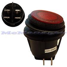 Interruptor rojo Iluminado impermeable enganche luz IP65