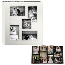 Ivory White Wedding Day Photo Album Holds 240 4x6 Pictures Photos Bound Sewn NEW