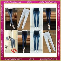 New Skinny Maternity Jeans Pregnancy Trousers Size 6 8 10 12 14 16 18 20 22 -D1