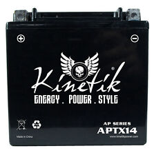 Kinetik 12V 12Ah Battery for Honda TRX300FW Fourtrax 4x4 1988-2000