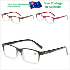 Mens Ladies Magnifying Trendy Reading Fashion Eye Wear Glasses Spectacle 86188