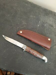Vintage Hunting Knife - Western Cutlery -Early West-Cut K -3 -Leather Handle