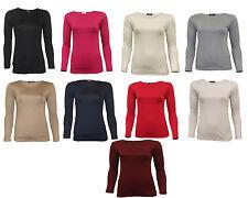 Girls Kids Children New School Gym Crew Neck Plain Long Sleeve Top T-Shirt 2-13