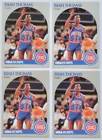 1990-91 HOOPS BASKETBALL Isiah Thomas 4x Card Lot NM #111 Detroit Pistons HOF