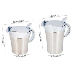 304 Stainless Steel Thermal Insulated Double Wall Sauce Gravy Boat Pot Practical