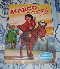 """ALBUM """"MARCO DE LOS APENINOS A LOS ANDES 2ª PARTE"""" DANONE 1977 Y COMPLETO"""
