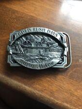 1996 Gold Rush Days Alaska Yukon Pewter Belt Buckle