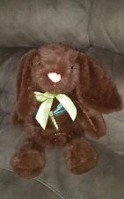 Dan Dee Embroidered Bunny Rabbit Plush Brown Suffed Animal Toy Easter Large 19""
