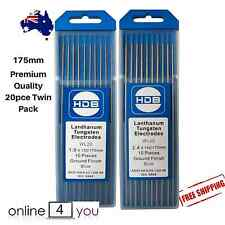 TIG Tungsten 2.4mm & 1.6mm Lanthanated Electrode PREMIUM twin pack (175mm 20pce)