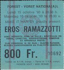 Ticket Concert: Eros Ramazzotti (15/10/1990) Forest National Bruxelles