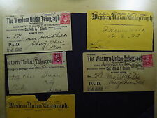 Telegrams Covers United States Western Untion Telegram Lewiston 1893
