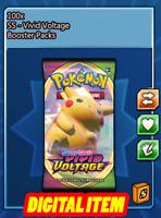 100x Vivid Voltage Codes Booster Packs Pokemon TCG Online (PTCGO, Ingame)