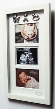 Waiting For Baby Multi Aperture 3 Photo Frame Picture Baby Shower Mum Gift Scan