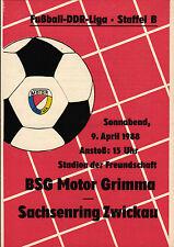 DDR-Liga 87/88 BSG Motor Grimma-BSG Sajonia anillo Zwickau, 09.04.1988