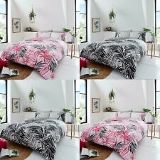 Duvet Cover Bedding Set with Pillow Cases, All Sizes (Leopard Leaves)