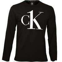 Calvin Klein cK1 Men's Long-Sleeve Jersey Top, Black