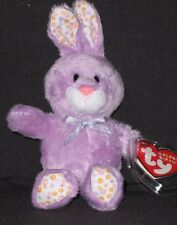 """TY BLOOM the 5"""" PURPLE BUNNY BASKET BEANIE - MINT with MINT TAG"""