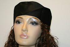 Black chefs adjustable rear strap  skull cap hat  pack of 12